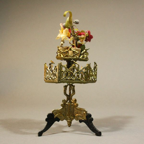 Antique Dolls House Accessories / Rare Double-Tiered ...