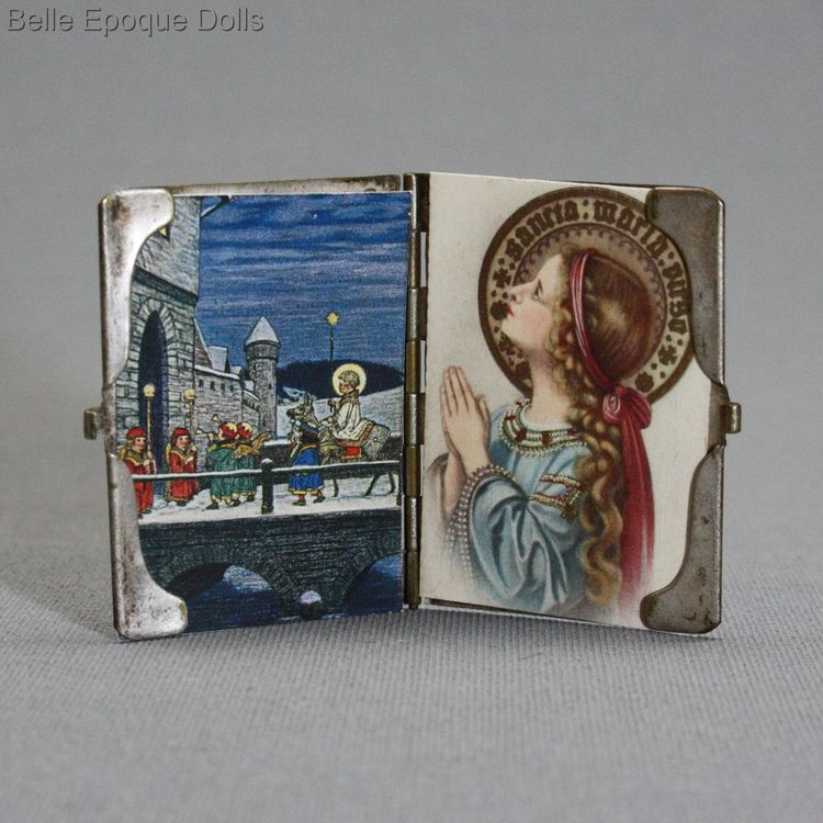 Antique folding picture holder miniature , Puppen zubehor
