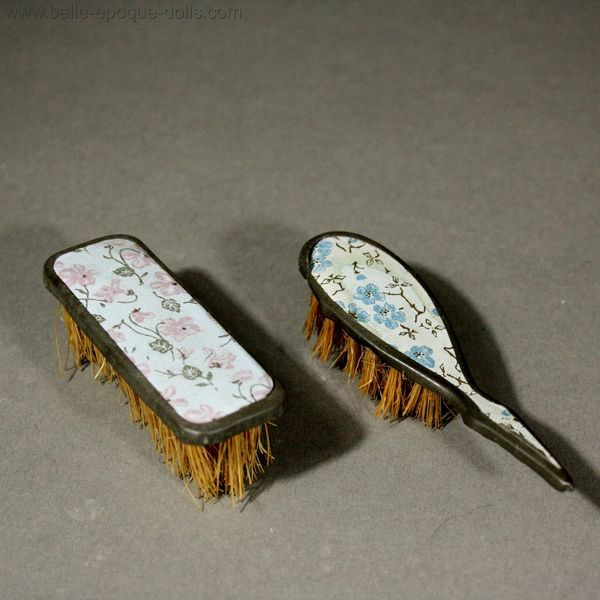 Puppen zubehor Haarbürste , Antique Doll miniature brush set , Puppen zubehor Haarbürste