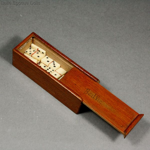Antique Dolls House Accessories Antique Miniature Domino Game In
