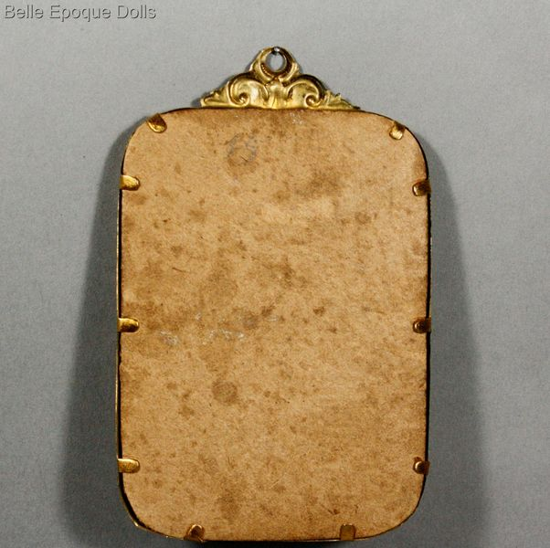 Antique dolls house ormolu mirror , Puppenstuben zubehor spiegel