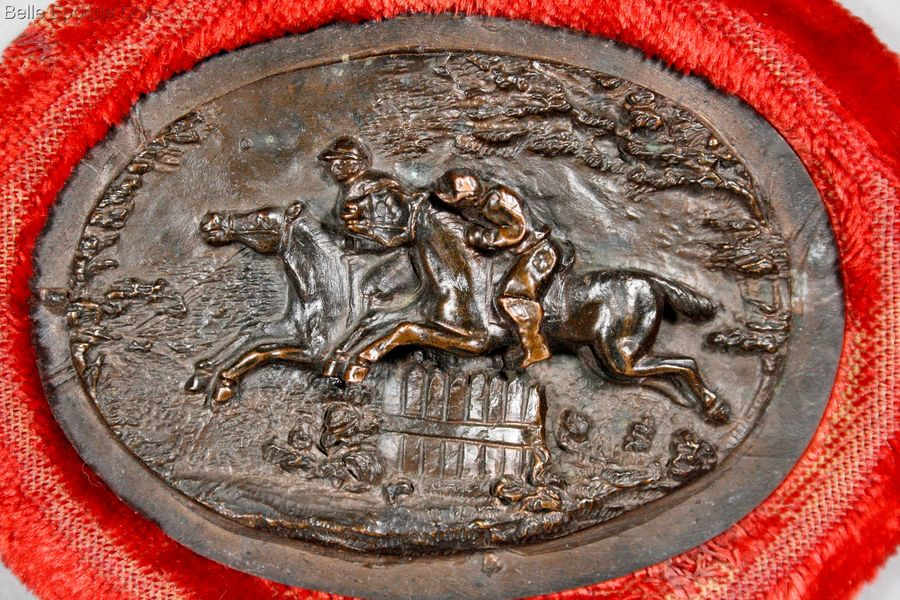 Bas relief with Hunting scene , Antique dolls house frame , Antique Dollhouse miniature