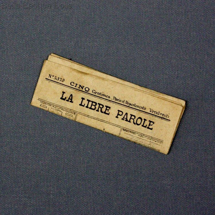 Antique Dollhouse miniature newspaper , Antique miniature newspaper