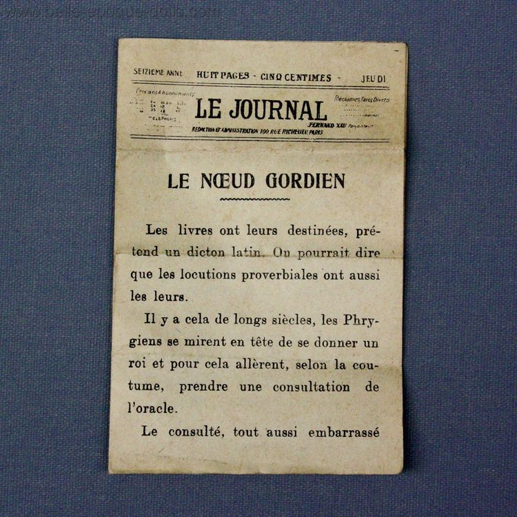 Puppenstuben zubehor , Antique miniature newspaper