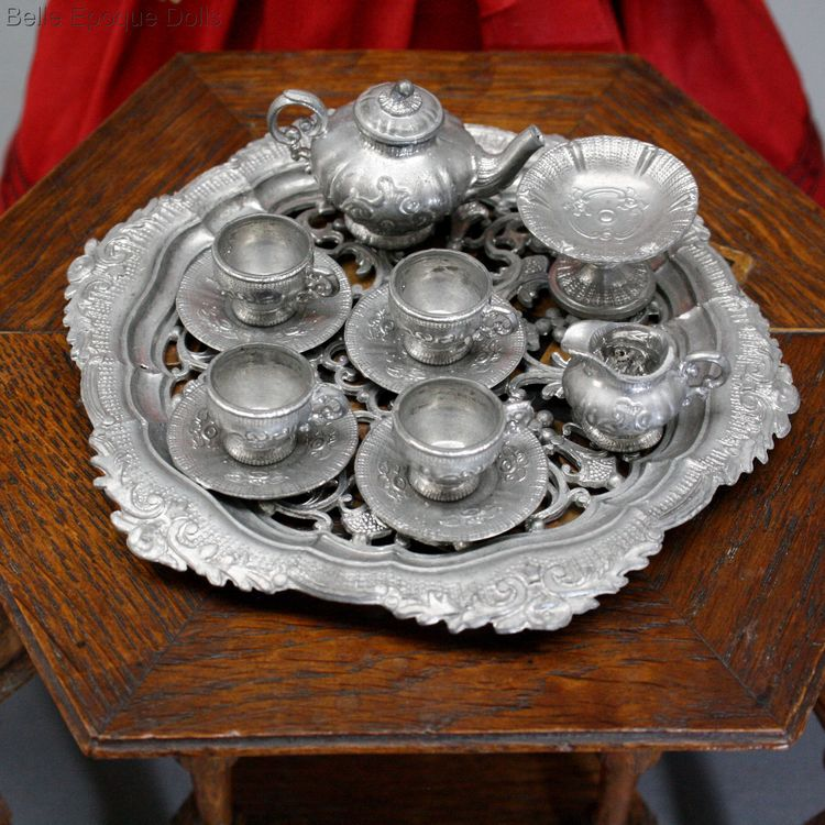 Antique fashion dolls accessory tea service  , Puppen zubehor