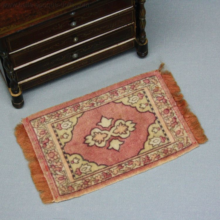 Antique Dollhouse miniature carpet , Doll's house rug
