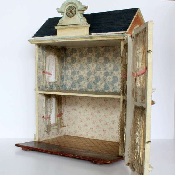 Antique Dolls Houses & Rooms / Antique Two-Room Dollhouse ...