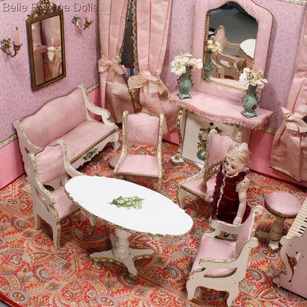 Antique Dolls Houses & Rooms / Elegant Antique French Miniature ...