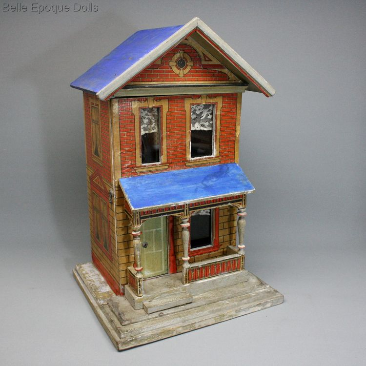 Antique miniature dollhouse gottschalk , Antique german dolls house  , Antique Dollhouse Moritz gottschalk