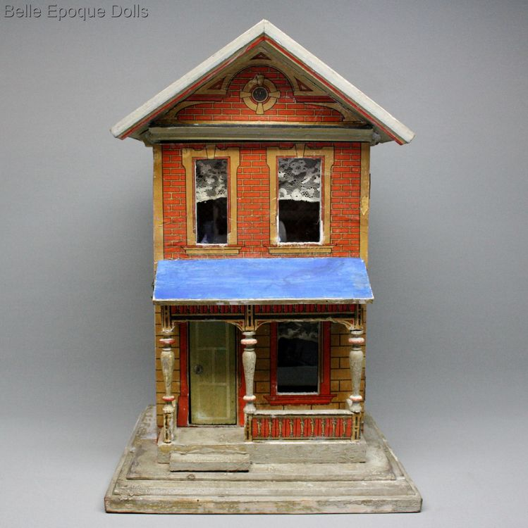 Antique Dollhouse Moritz gottschalk , Antique miniature dollhouse gottschalk