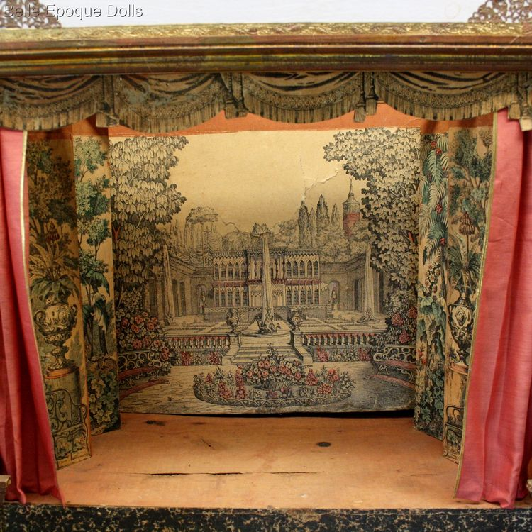 Antique dolls house opera , Antique French miniature dolls theater opera , Antique Dollhouse miniature theater