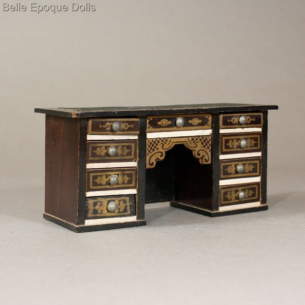 antique dolls house furniture biedermeier , Waltershausen furniture