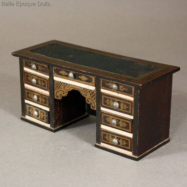 antique dollhouse desk miniature , Waltershausen furniture