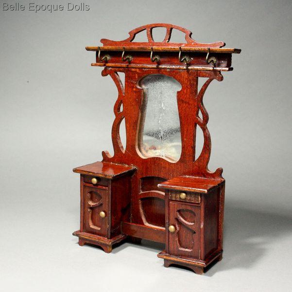 ... Puppenstuben Zubehor Garderobenstander Art Nouveau Hall Tree Rack ,  Antique Dolls House Furniture , Antique Dollhouse Miniature Umbrella Stand  ...