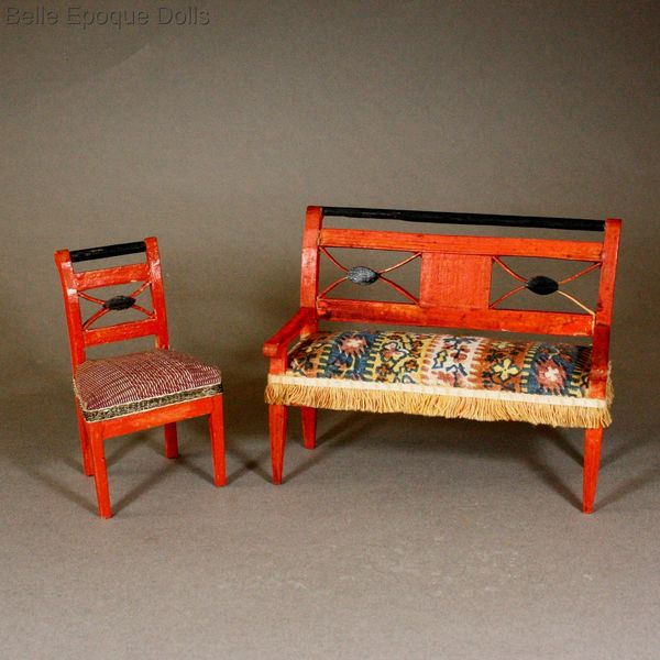 Early german dollhouse furniture , Erzgebirde Puppenstuben