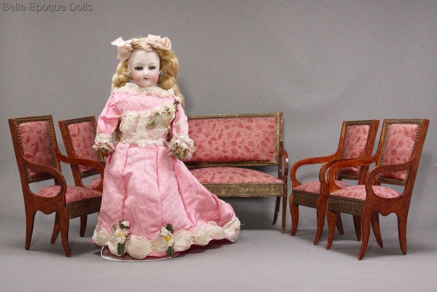 Antique Doll miniature French furniture , Puppenstuben zubehor