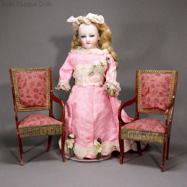Antique dolls armchairs furniture  , Puppenstuben zubehor