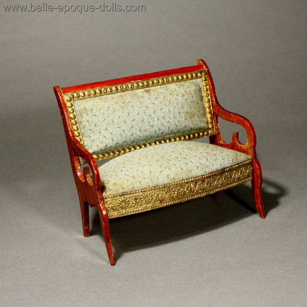Antique Dollhouse French furniture  , Puppenstuben zubehor franzosiche mobel