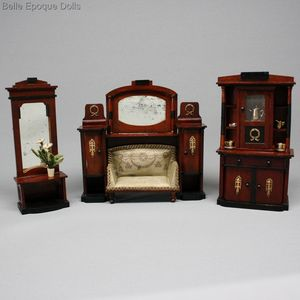 Antique Dollhouse Furniture 1