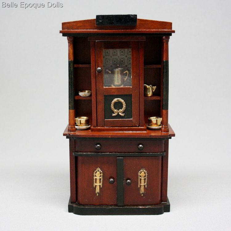 Gottschalk or Eppendorfer Nacke , Antique dolls house German  wooden furniture , Antique Dollhouse miniature furnishings