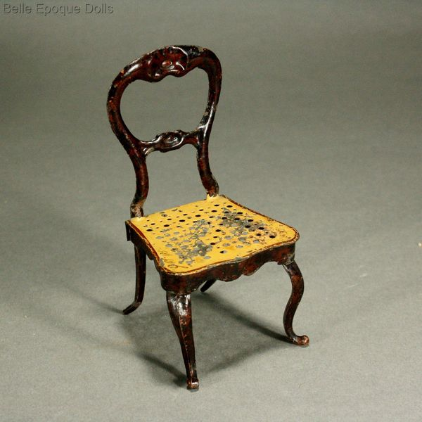 ... Antique dolls house furniture table chair rock & graner , Puppenstuben  zubehor rock graner - Antique Dolls House Furniture / German Painted Tin Balloon Back