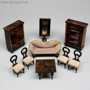 Antique Dollhouse Furniture 1