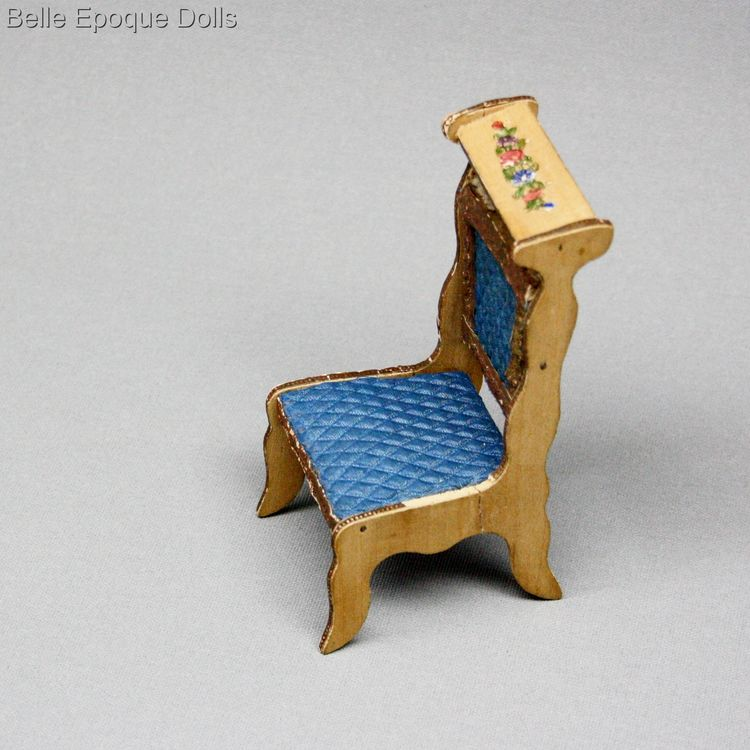Puppenstuben zubehor , Antique Dollhouse miniature prie dieu chair , Puppenstuben zubehor