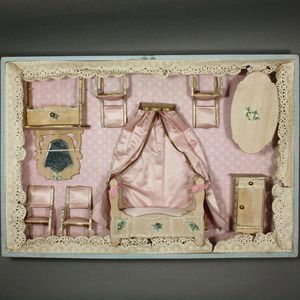 ... Antique French Bedroom Furniture Set In Original Box   By Bolant Early  French Doll ...