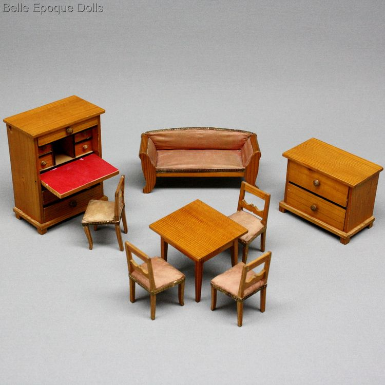 Puppenstuben zubehor , Antique Dollhouse miniature furniture , Puppenstuben zubehor