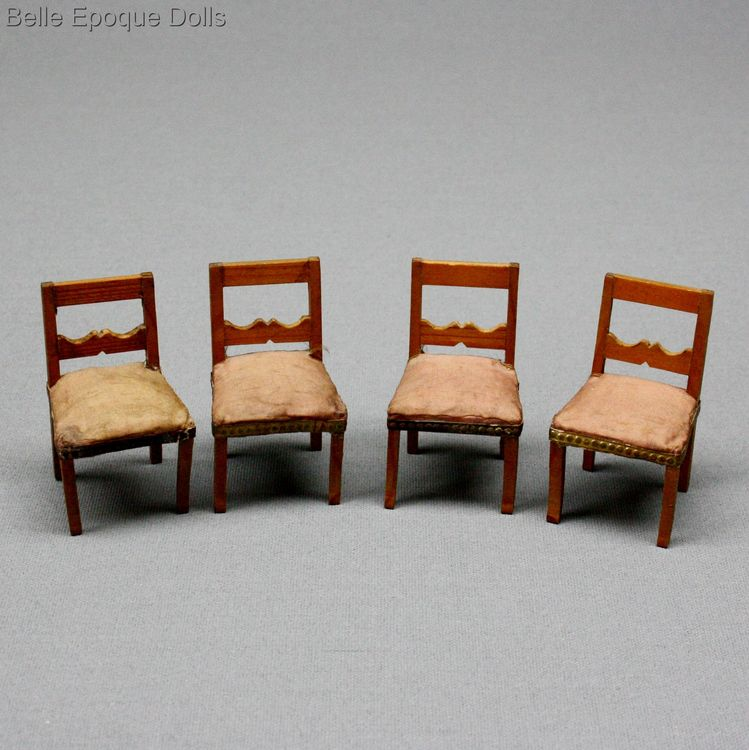 Antique Dollhouse miniature furniture , Puppenstuben zubehor