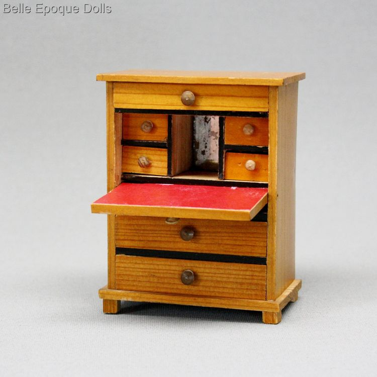 Antique dolls house german furniture biedermeier , Puppenstuben zubehor