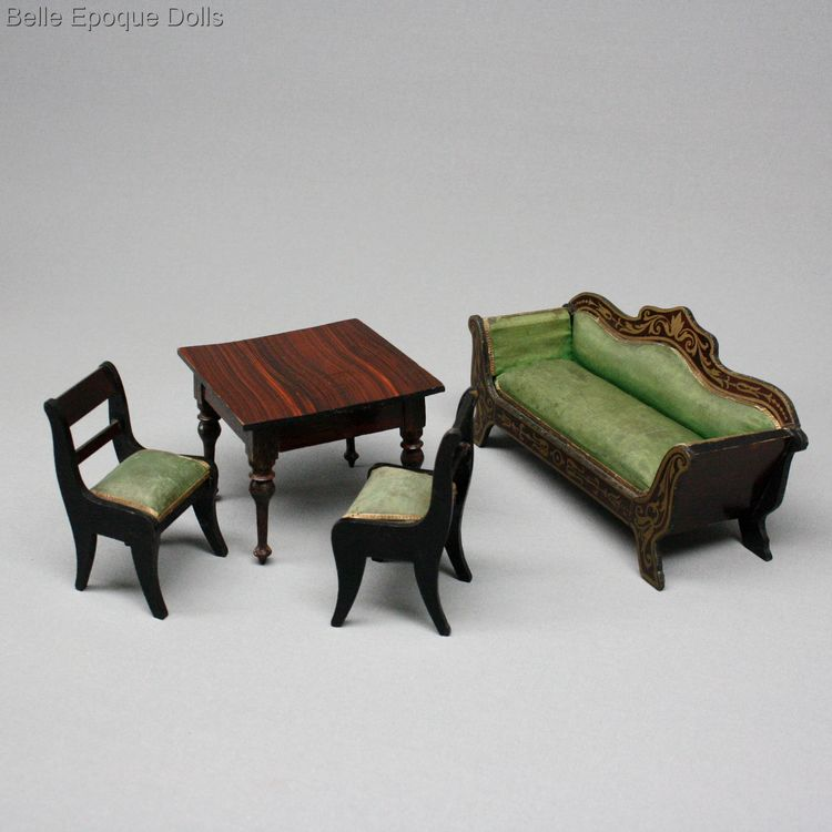 Puppenstuben zubehor , Biedermeier dollhouse furniture