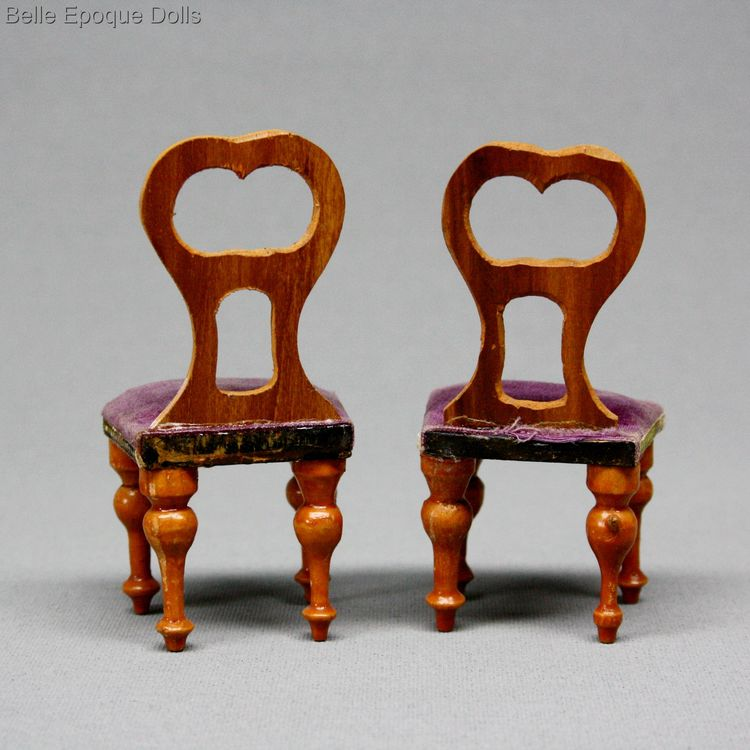 Antique dolls house furniture  , faux grained antique furniture , Puppenstuben zubehor