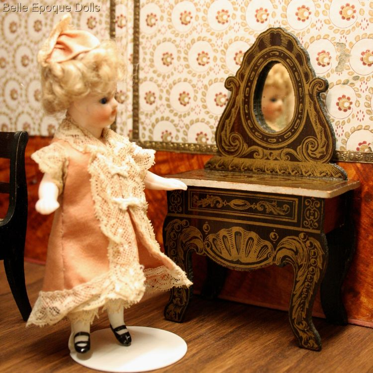 wagner sohne furniture , Puppenstuben zubehor , Antique dolls house furniture biedermeier