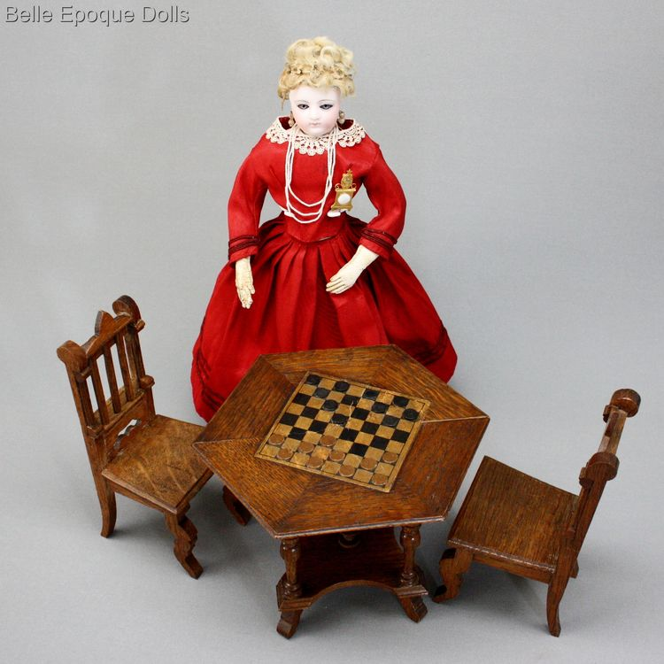 fashion doll , Doll wooden furniture antique