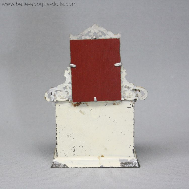 F.W. GERLACH manufacturing , Antique dolls house furniture fireplace with mirror , Antique Dollhouse miniature fire place