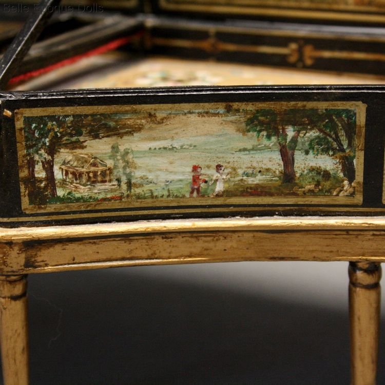 Antique Dollhouse miniature Harpsichord  , Puppenstuben zubehor Cembalo