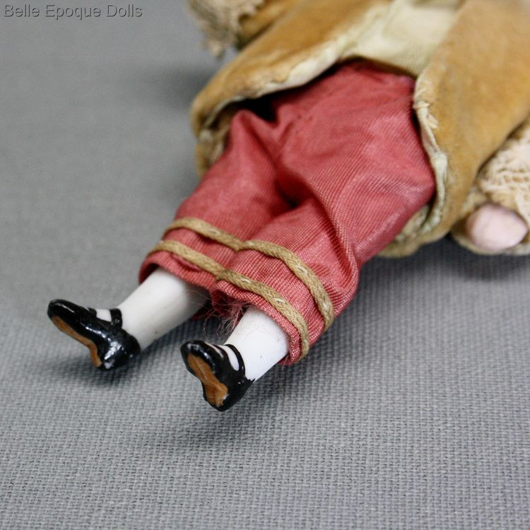 Antique dolls house all-bisque doll boy , lPuppenstuben ganzbiskuit puppen