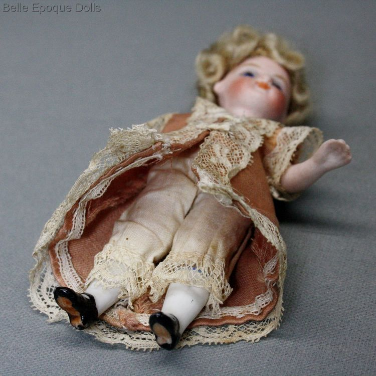 Antique Dollhouse miniature doll  , Antique dolls house all-bisque doll