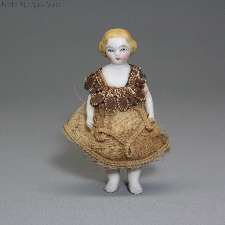 Puppenstuben puppen , Antique Dollhouse all-bisque  doll , Puppenstuben puppen
