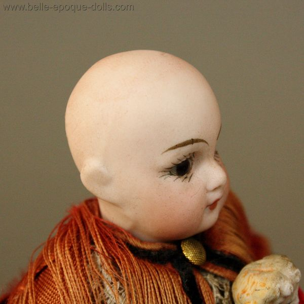 Puppenstuben ganzbiskuit puppen  , Antique all bisque doll mignonette