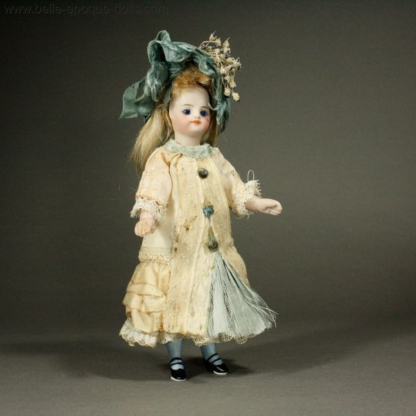 Antique Miniature Dolls French All Bisque Mignonette