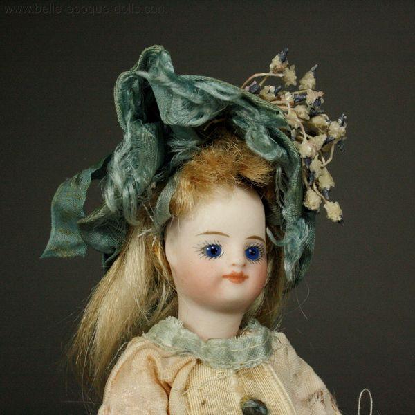 Antique Miniature Dolls French All Bisque Mignonette