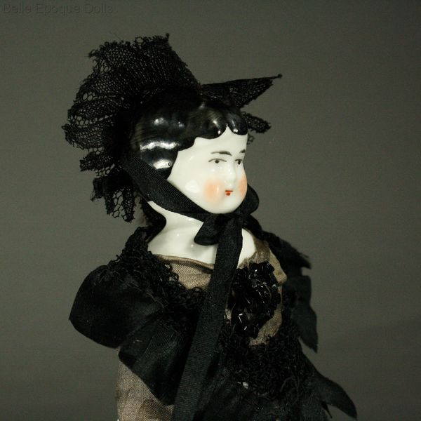 Antique Miniature Dolls / Antique Porcelain Dollhouse Doll ...