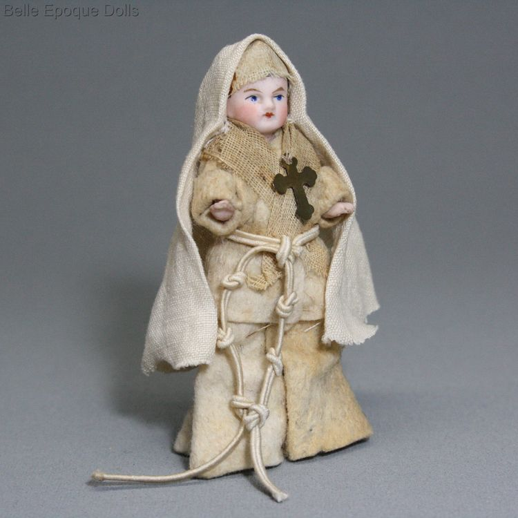 Antique Dollhouse doll nun , Puppenstuben zubehor